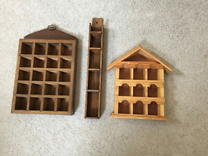 Thimble Display Racks 3 Wooden For Hanging