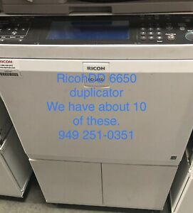 Ricoh Dd 6650 Duplicator Blk And White