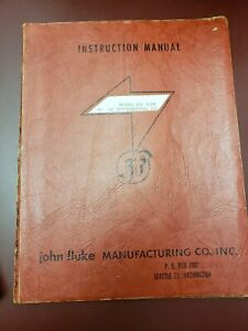 Fluke Model 803 And 803r Differential Ac Dc Voltmeter Instruction Manual