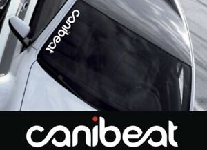 Large Gloss White Canibeat Red Dot 22 Decal Vinyl Cut Sticker Jdm Illest Dope