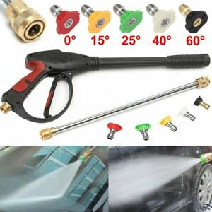 3000psi High Pressure Washer Spray Gun Lance Jet Multi angle Water Washing Tool
