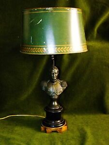 French Bronze Bouillotte Lamp Napoleon I With Lighter