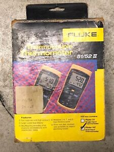 Fluke 52 Ii Dual input Digital Thermometer With Test Lead Case Temp Meter 2