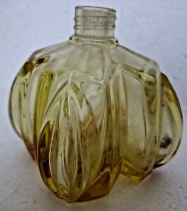 Antique Perfume Bottle Flower Shape Cut Glass Small Miniature Collectibles Old