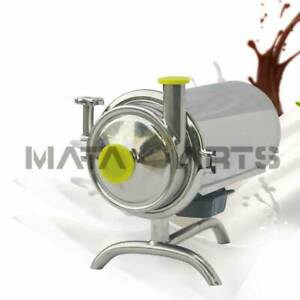 110v Stainless Steel Sanitary Pump Beverage Milk Delivery Pump 1t h 0 37kw