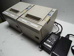Epson Tm t88iii M129c Pos Thermal Receipt Printer With Power Supply Lot 2