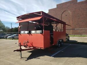 Enclosed Bbq Pit Concession Trailer 20x8 With Woodburning 3 Door Pit