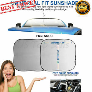 Car Sun Shade Front Windshield Universal Fit Sunscreen Uv Protector Bonus