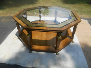 Vintage Baker Furniture Egyptian Revival Octagon Coffee Table