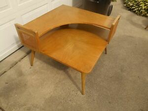Awesome Mcm Vintage Weiman Blonde Maple End Lamp Table Coffee Table