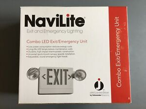 Juno Navilite Exit And Emergency Lighting Led Combo In White 120 277 Vac