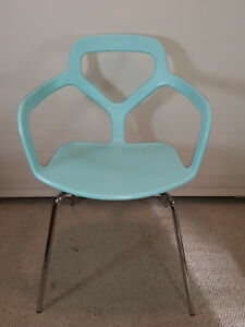 Designer Accent Arm Chair Eames Style Mid Century Modern Turquiose