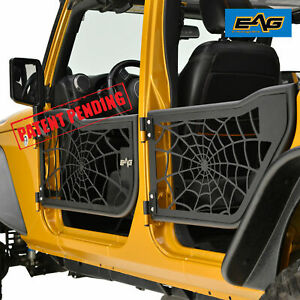 Eag Tube Spyder Web Door With Reflection Mirror For 07 18 Jeep Jk Wrangler 4dr
