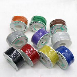 250m roll 30awg Insulated Silver Plated Single Core Copper Pcb Wrapping Wire