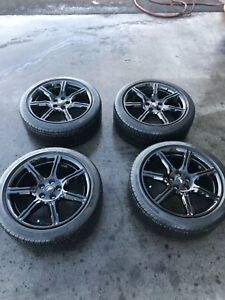 Ford Mustang Oem Rims And Tires Black Accent Package