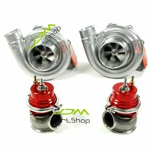 Twin Turbos T4 Flange Tur Ar 81 red 60mm Wastegate Kit For Ls1 Ls2 Ls7 Ls9 Motor