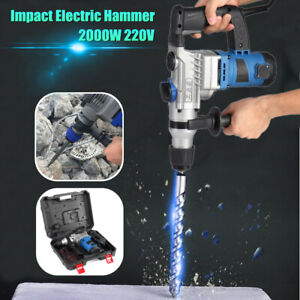 2000w Demolition Jack Hammer Impact Drill Electric Concrete Breaker