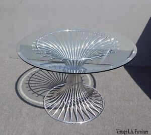 Vintage Gastone Rinaldi Sabrina For Rima Chrome Dining Table Made In Italy