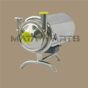 110v Stainless Steel Sanitary Pump Beverage Milk Delivery Pump 5t h 1 5kw