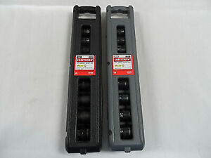 Craftsman 6pt 9 Pc Impact Socket Sets 915881 Metric 915882 Inch New