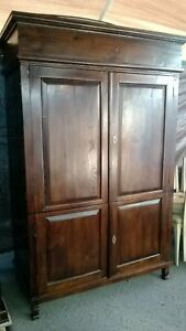 Vintage Armoire Wardrobe Cabinet Closet Bar Entertainment Center Stunning Piece
