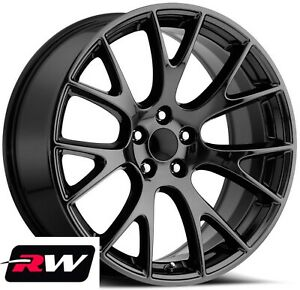 2 20x9 5 2 20x10 5 Wheels For Dodge Charger Gloss Black Rims Srt Hellcat