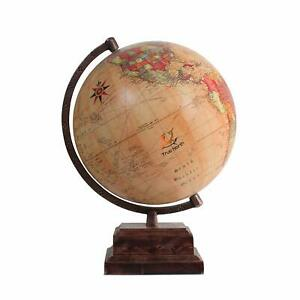 True North World Globe With Strong Heavy Duty Stand Large 12 Antique Finish