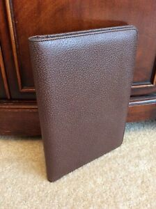 Classic Leather Open Wirebound Planner Cover Brown Note Pad Folio Franklin Covey