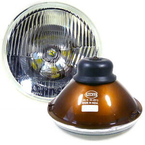 H6024 Pair 7 Inch Head Light Housing Round Glass Conversion Lamp Set Set Of 2
