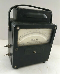 Vtg Weston Electrical Instrument Corps Ac Volt Signal Meter Model 433 Is 185