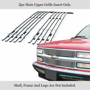 Fits 1994 1999 Chevy C k Pickup suburban tahoe Stainless Chrome Billet Grille