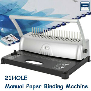 21 Hole 450 Sheets Paper Comb Punch Binder Binding Machine Square Hole Big Sale