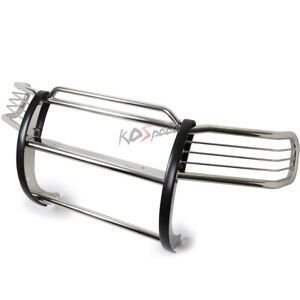 Chrome Front Bumper Push Bar Brush Grille Guard For 99 04 Jeep Grand Cherokee Wj
