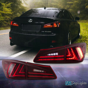 Led Red Tail Lights Conversions For Lexus Is250 Is350 Isf 2006 2012 Red Lens