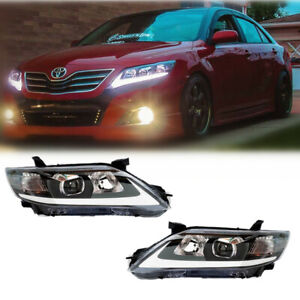 Vland 2 Headlights For Toyota Camry 2010 2011 Led Sedan Assembly Projector