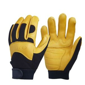 Men s Work Gloves Driver Leather Security Protection Working Racing Deerskin