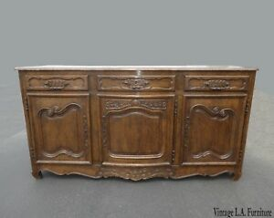 Antique Vintage Spanish Style Rustic Sideboard Buffet Credenza W Brass Hardware
