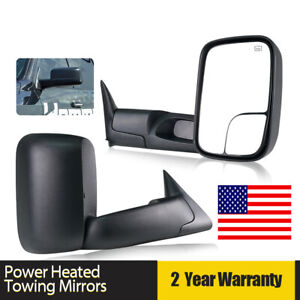 Fit 1998 2001 Dodge Ram 1500 1998 2002 Ram 2500 3500 Power Heated Towing Mirrors
