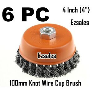 6 X 4 Twist Cup Wire Brush 5 8 Twisted Fits Most 4 1 2 Angle Grinder Hoteche