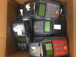 Verifone Vx510 Lot Of 7 Mix Of Dual Comm And Le