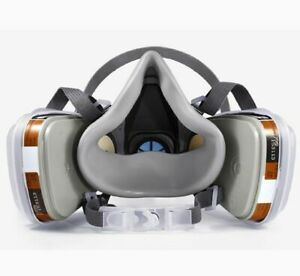 Half Face Mask Painting Spraying Respirator Gas Suit Safety Work Filter Dust 3m