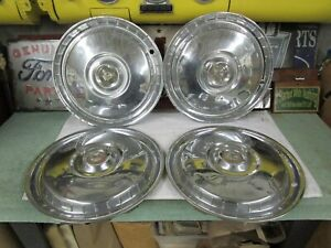 1955 1956 Ford Fairlane Full Size Hubcaps Four