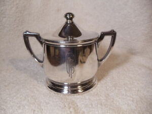 Vintage Monogram Hotel International Silver Co Sugar Bowl With Lid No 09c