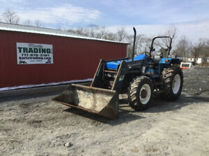 1997 New Holland 6640 4x4 Farm Tractor W Loader