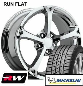 18 19 Inch Corvette C6 Grand Sport Wheels And Michelin Tires Chrome Rims Fit C6
