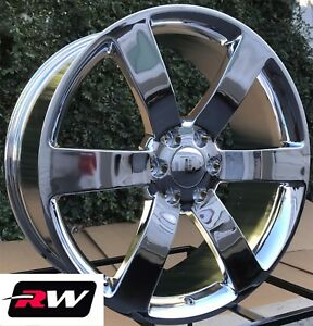 2 20 X8 Inch Chevy Trailblazer Ss Oe Replica Wheels 5254 Chrome Rims 6x127 45