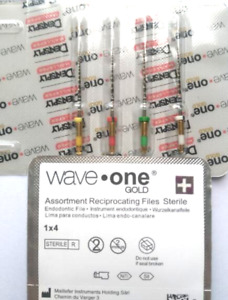 Waveone Gold Wave One Assorted Endodontic File Root Canal Dentsply 4 Pack 25mm