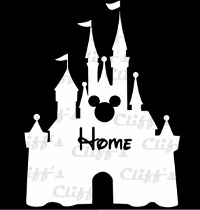 Disney Home Castle Vinyl Sticker Decal Car Truck Window Laptop Boat