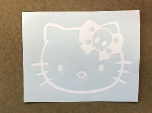 Hello Kitty Skull Bow Vinyl Decal Sticker For Laptop Car Truck