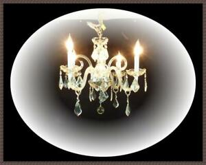 Vintage 8 Arms European Crystals Chandelier Large French Crystals Restored